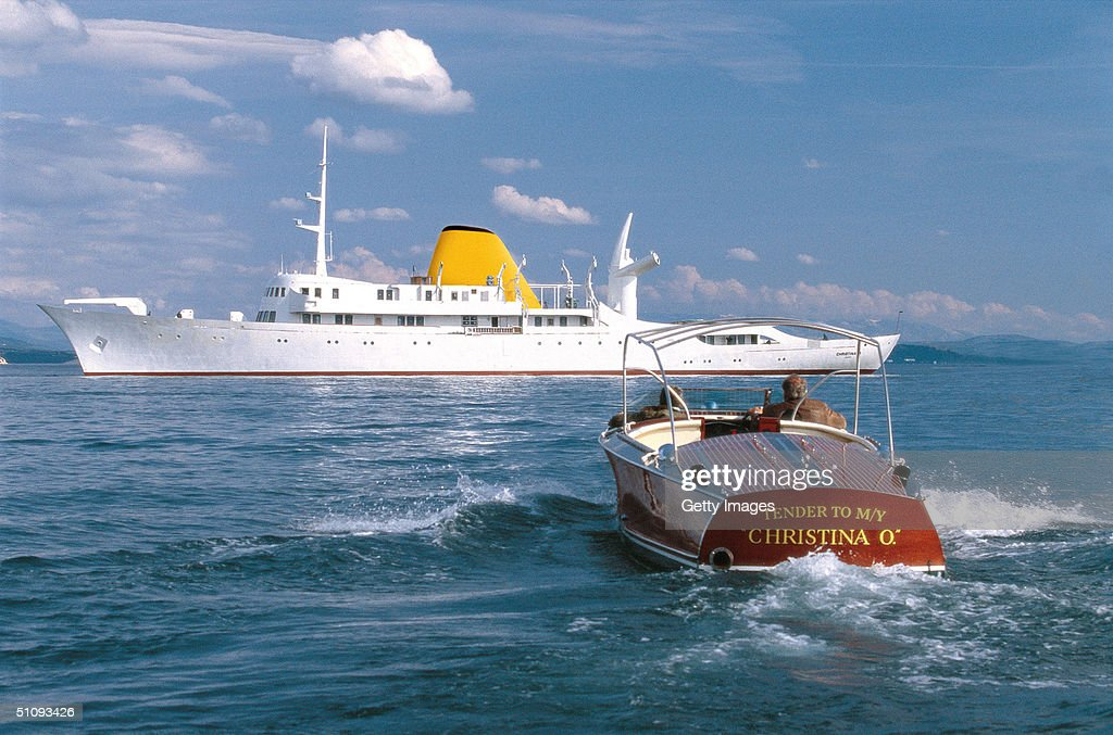 The Newly Restored Christina O Former Private Yacht Of Aristotle Onassis : ニュース写真