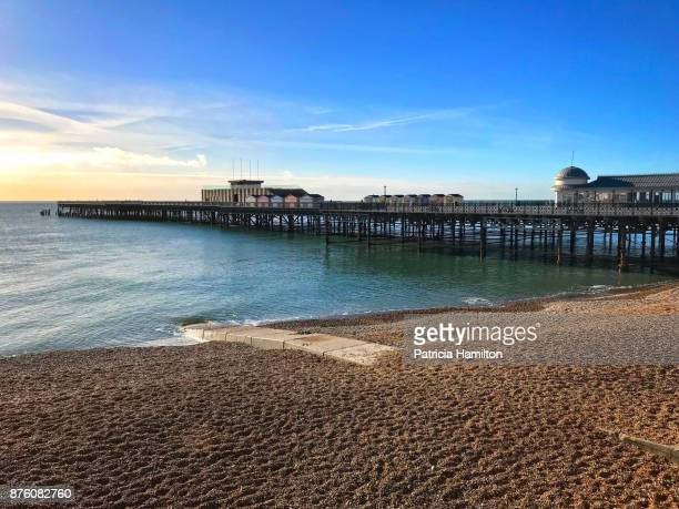 the newly restored hastings pier - hastings stock photos and pictures