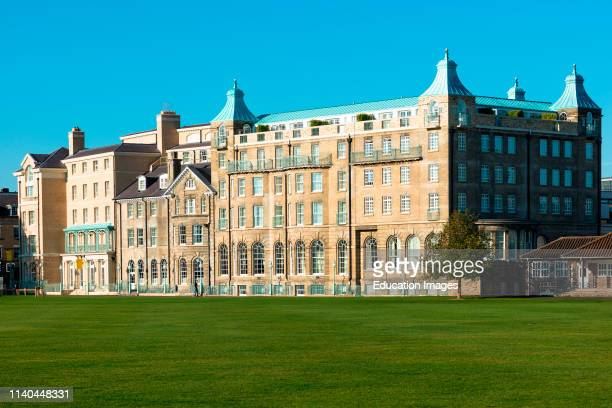 The newly restored University Arms Hotel seen from Parker's Piece Cambridge England UK