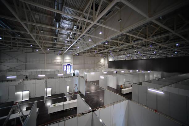 DEU: Hanover Builds Covid-19 Hospital At Messe Trade Fair Halls