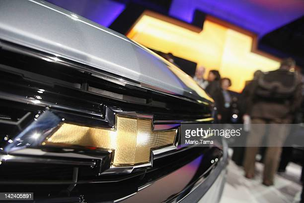 The newly unveiled 2014 Chevrolet Impala is diaplayed at the New York International Auto Show at the Jacob Javits Convention Center on April 4 2012...