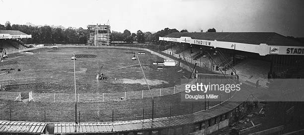 The newlycompleted Catford Stadium and dogracing track at Catford in south London in the week before its official opening 26th July 1932