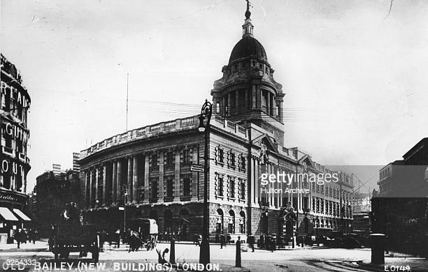 The newlycompleted Central Criminal Court in the City of London known as the Old Bailey