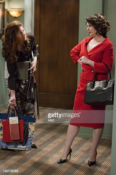 WILL GRACE 'The Newlydreads' Episode 6 Pictured Debra Messing as Grace Adler Megan Mullally as Karen Walker Photo by Chris Haston/NBCU Photo Bank
