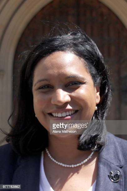 The newlyelected MP for Lewisham East Janet Daby poses for a photograph outside the Houses of Parliament on June 18 2018 in London England Labour's...
