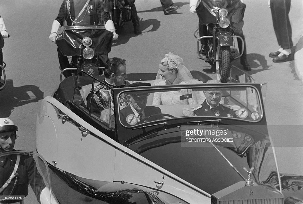 Wedding of Grace Kelly and Prince Rainier III of Monaco : News Photo