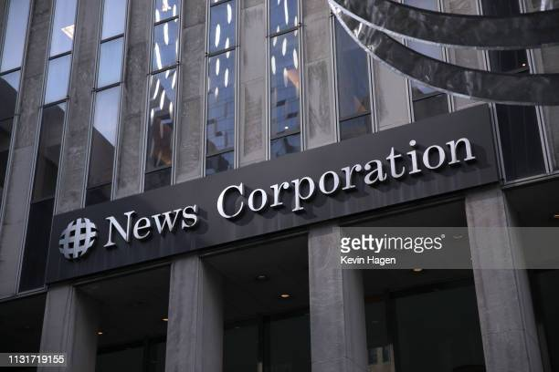 The News Corp. Building on 6th Avenue, home to Fox News, the New York Post and the Wall Street Journal, on March 20, 2019 in New York City, New York....