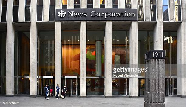 August 26, 2016: The News Corporation building on Avenue of the Americas in New York City is the headquarters for the American mass media company...