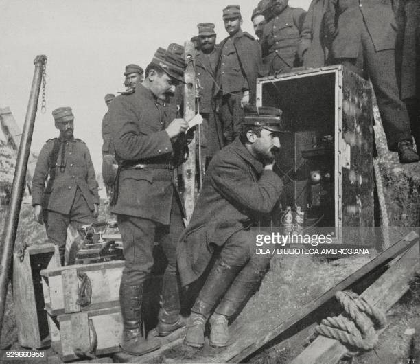 The news of Ioannina's surrender reaching the Greek camp by telephone Greek army at the assault on Ioannina Greece First Balkan War from...
