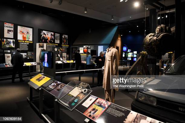 The Newseum's Inside Todays FBI includes artifacts from the 2013 Boston Marathon bombing the Unabombers cabin engine parts and landing gear from...