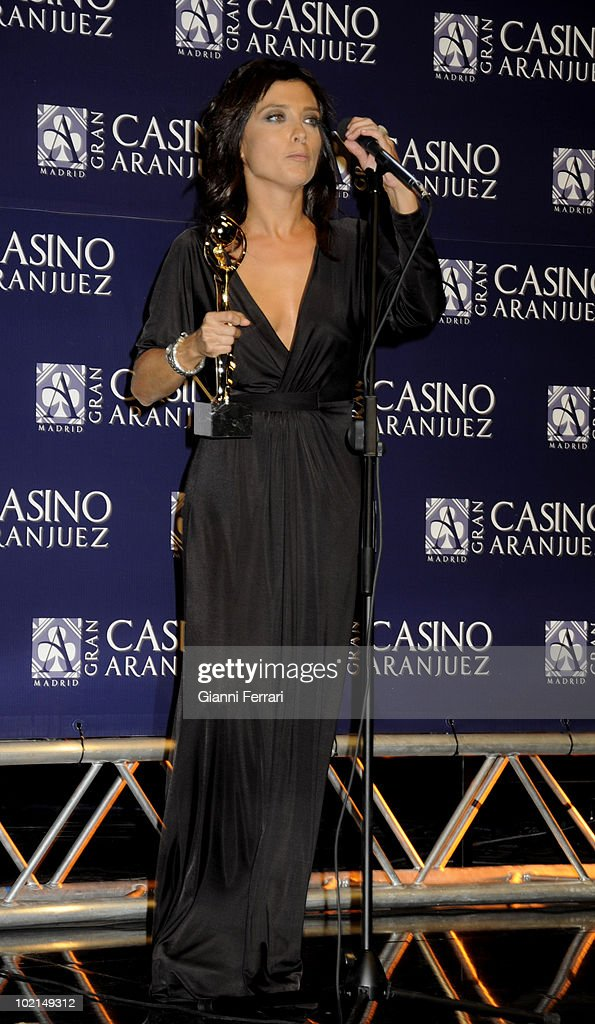The newsreader Helena Rosano, winner of the award 'Golden Antenna', 27th September 2009, 'Gran Casino de Aranjuez', Aranjuez, Madrid.