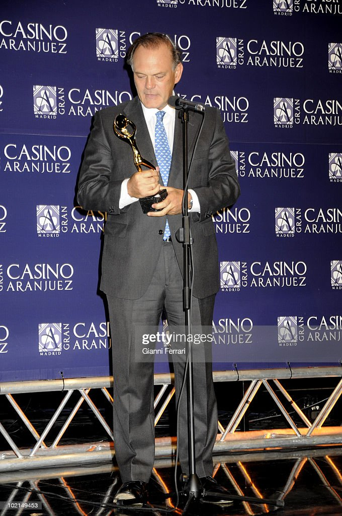 The newsreader Pedro Piqueras, winner of the award 'Golden Antenna', 27th September 2009, 'Gran Casino de Aranjuez', Aranjuez, Madrid.