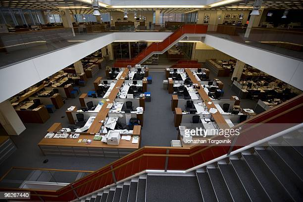 The newsroom at the New York Times building designed by architect Renzo Piano on 8th Avenue at 43rd Street May 2008 in New York City The newsroom is...