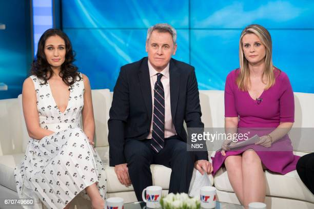UNIT 'The Newsroom' Episode 1817 Pictured Paloma Guzmán as Davina Delucci Mark Moses as George Thanos Bonnie Somerville as Heidi Sorenson
