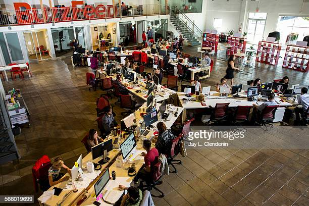 The newsroom of the Los Angeles headquarters of the website Buzzfeedcom photographed Oct 7 2013