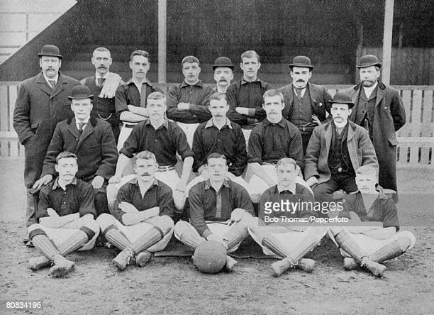 The Newton Heath Football Team who defeated Walsall Town Swifts 140 on March 9th 1895 Their opponents successfully appealed against the result...