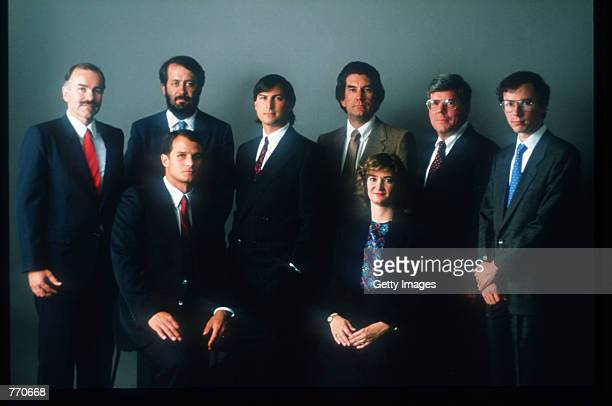 The NeXT senior staff poses for a photograph October 12, 1988 in San Francisco, CA. Jobs, co-founder of Apple Computers, left the company after a...