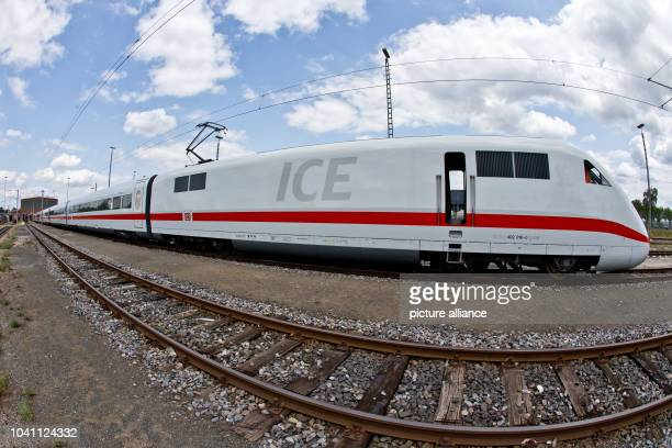The next to last modernized ICE2 train owned by German Railways sits outside DB's maintenance factory in Nuremberg Germany 12 July 2013 DB started a...