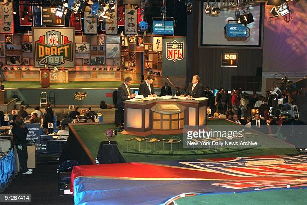 The NFL Draft is underway in the theater at Madison Square Garden.