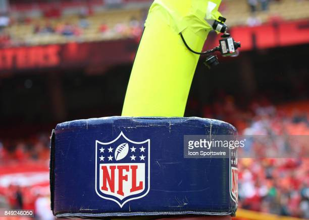 The NFL logo before a week 2 NFL game between the Philadelphia Eagles and Kansas City Chiefs on September 17th 2017 at Arrowhead Stadium in Kansas...