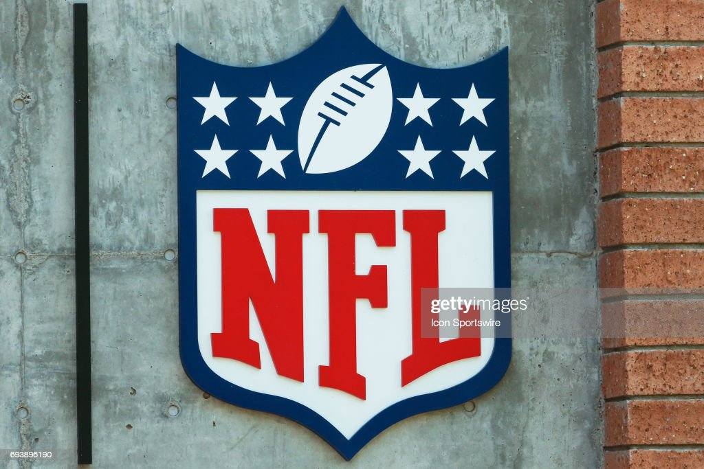 The NFL logo on June 8, 2017 at Arizona Cardinals Training Facility in Tempe, Arizona.