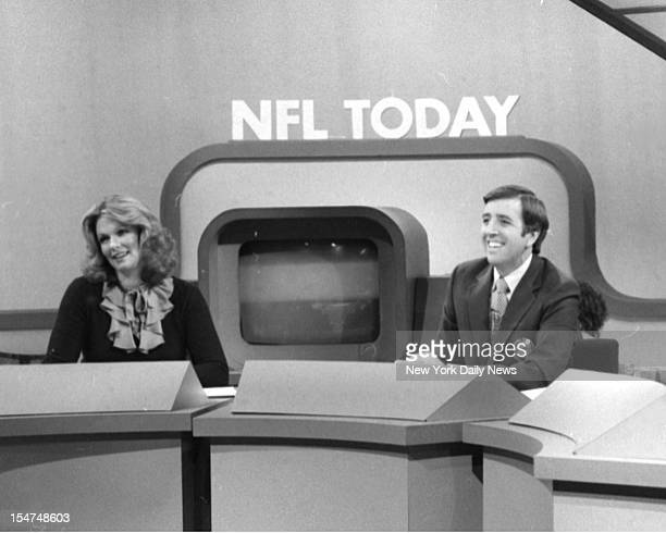 The NFL Today on CBS Sports with former Miss America and now reporter Phyllis George and journalist Brent Musburger