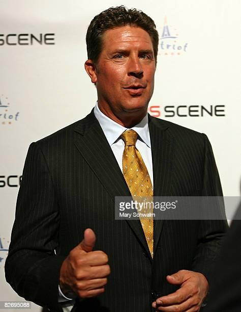 The NFL Today's Dan Marino attends the grand opening of the CBS Scene Restaurant Bar on September 6 2008 in Foxboro Massachusetts