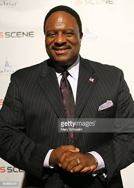 The NFL Today's James Brown attends the grand opening of the CBS Scene Restaurant Bar on September 6 2008 in Foxboro Massachusetts