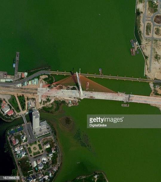 The Nguyen Van Troi–Tran Thi Ly Bridge is a concrete cablestayed bridge with a single inclined pylon that rises 145 meters above the water with a...