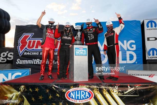 The NHRA Camping World Drag Racing Series Season Champions Matt Smith Denso/Stockseth EBR, Erica Enders Elite Motorsports Chevrolet Camaro, Matt...