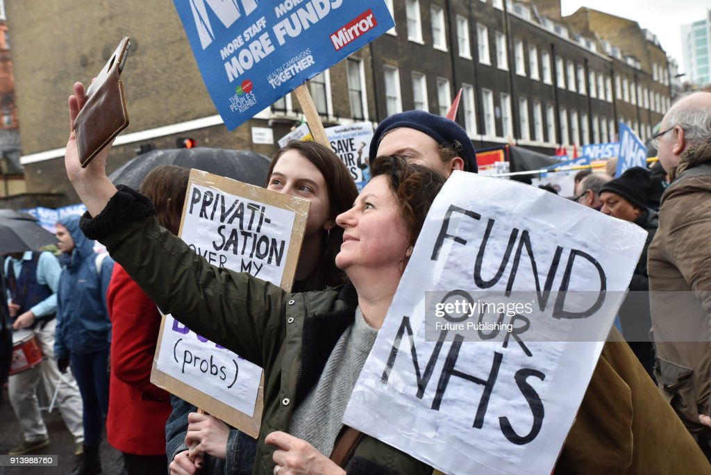 Image result for NHS protests, february 2018, photos