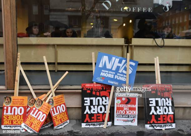 The NHS in Crisis Fix it Now protest march through central London on February 3 2018 in London England PHOTOGRAPH BY Matthew Chattle / Barcroft Images