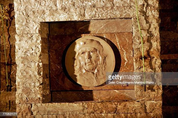The niche where the remains of late Ernesto Che Guevara are resting in the Che Guevara Memorial is seen September 23 2007 in Santa Clara Cuba The Che...