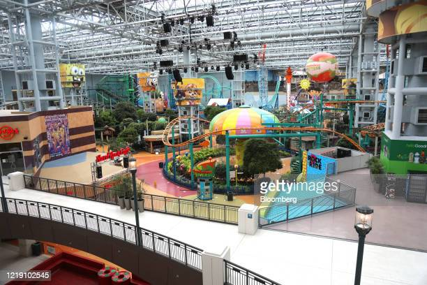 The Nickelodeon Universe indoor theme park remains closed at the Mall of America in Bloomington, Minnesota, U.S., on Wednesday, June 10, 2020. The...