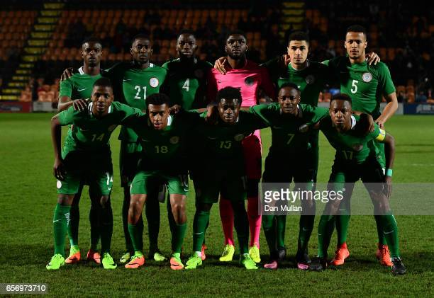 The Nigeria team pose for a group photo prior to the International Friendly match between Nigeria and Senegal at The Hive on March 23 2017 in Barnet...