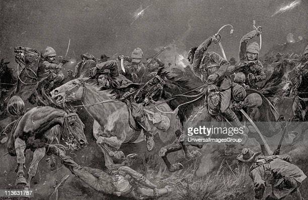 The night charge of the 19th Royal Hussars near Lydenberg Mpumalanga South Africa on November 7th 1900 during the second Boer War From South Africa...