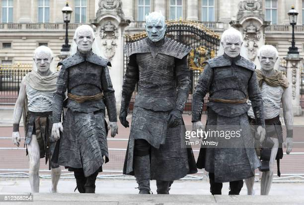 The Night King and White Walkers march past Buckingham Palace to promote the forthcoming Game Of Thrones Season 7 on July 11 2017 in London England...