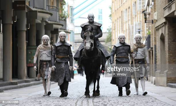 The Night King and White Walkers march through London to promote the forthcoming Game Of Thrones Season 7 on July 11 2017 in London England The new...