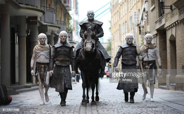 The Night King and White Walkers march through London to promote the forthcoming Game Of Thrones Season 7 on July 11, 2017 in London, England. The...