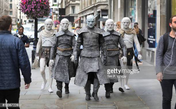 The Night King and White Walkers march through Oxford Circus to promote the forthcoming Game Of Thrones Season 7 on July 11, 2017 in London, England....