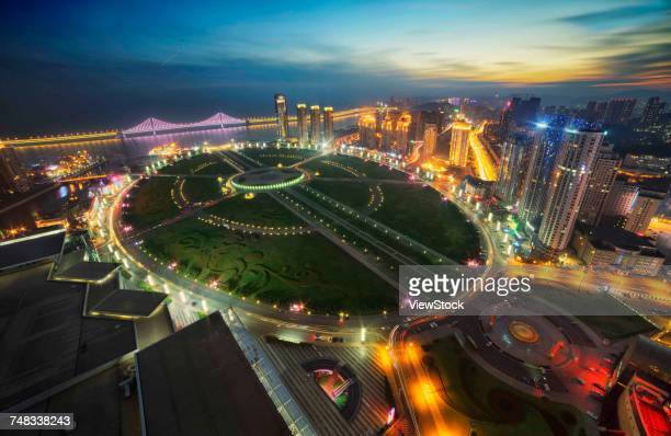 The night of Xinghai Square in Dalian City,China