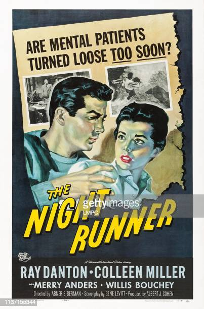 The Night Runner poster US poster art from left Ray Danton Colleen Miller 1957