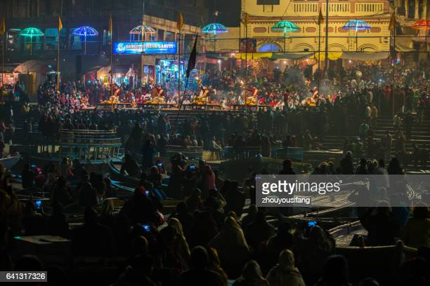 The night sacrifice at Ganges RIver