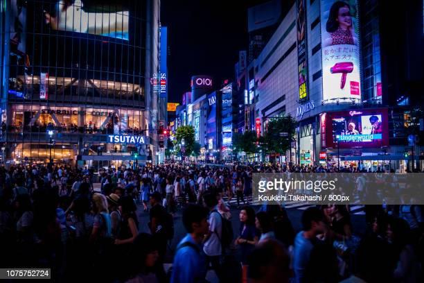 the night - shibuya 500px.com/photo/161709587/ - koukichi koukichi stock photos and pictures