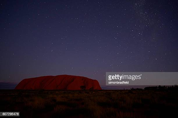 The Night Sky And Uluru