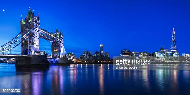 The night skyline of London