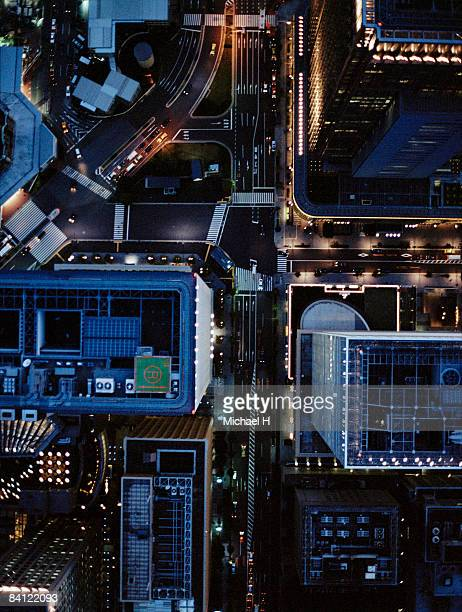The night view aerial photography of Tokyo Station