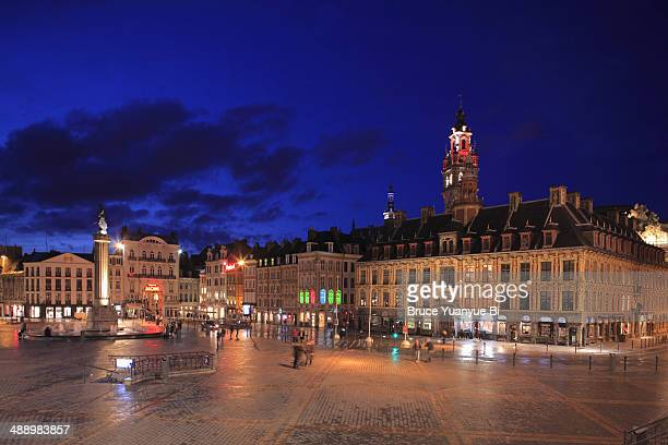 The night view of Grand Place