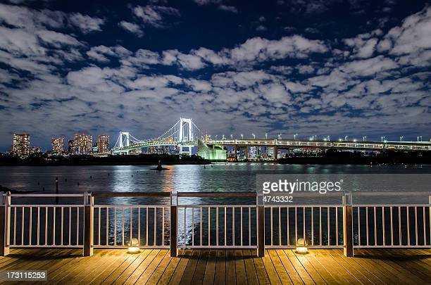 The night view of Tokyo from Odaiba, Japan