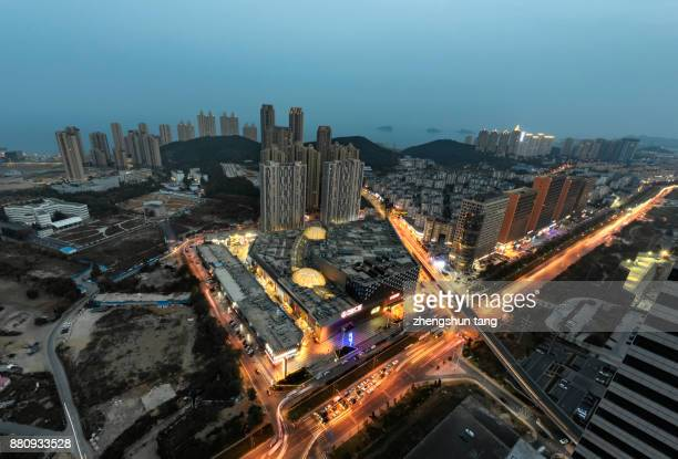 The night view of WanDa Squre in Dalian.